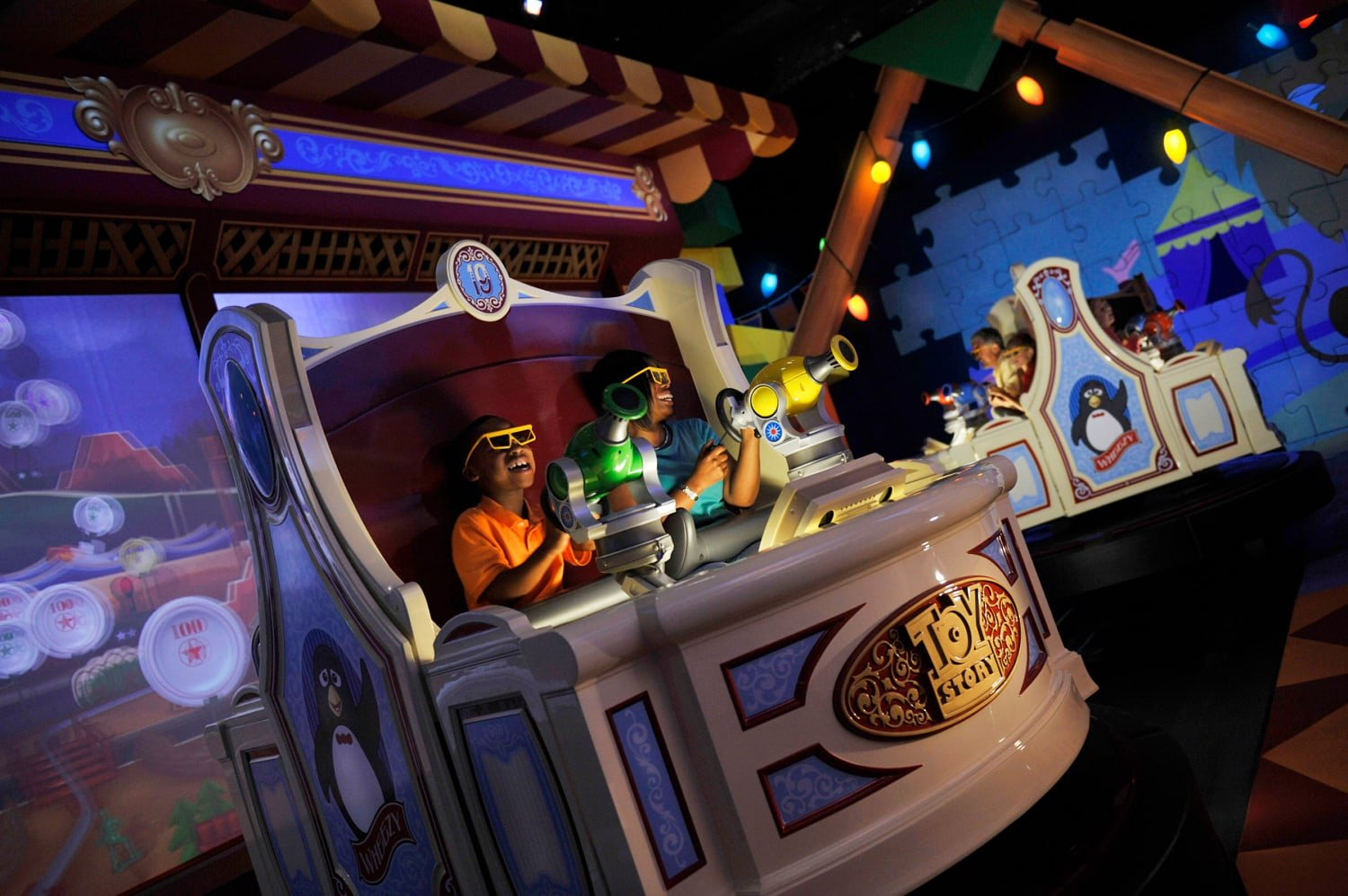 Toy Story Midway Mania at Disney's Hollywood Studios with Preschoolers