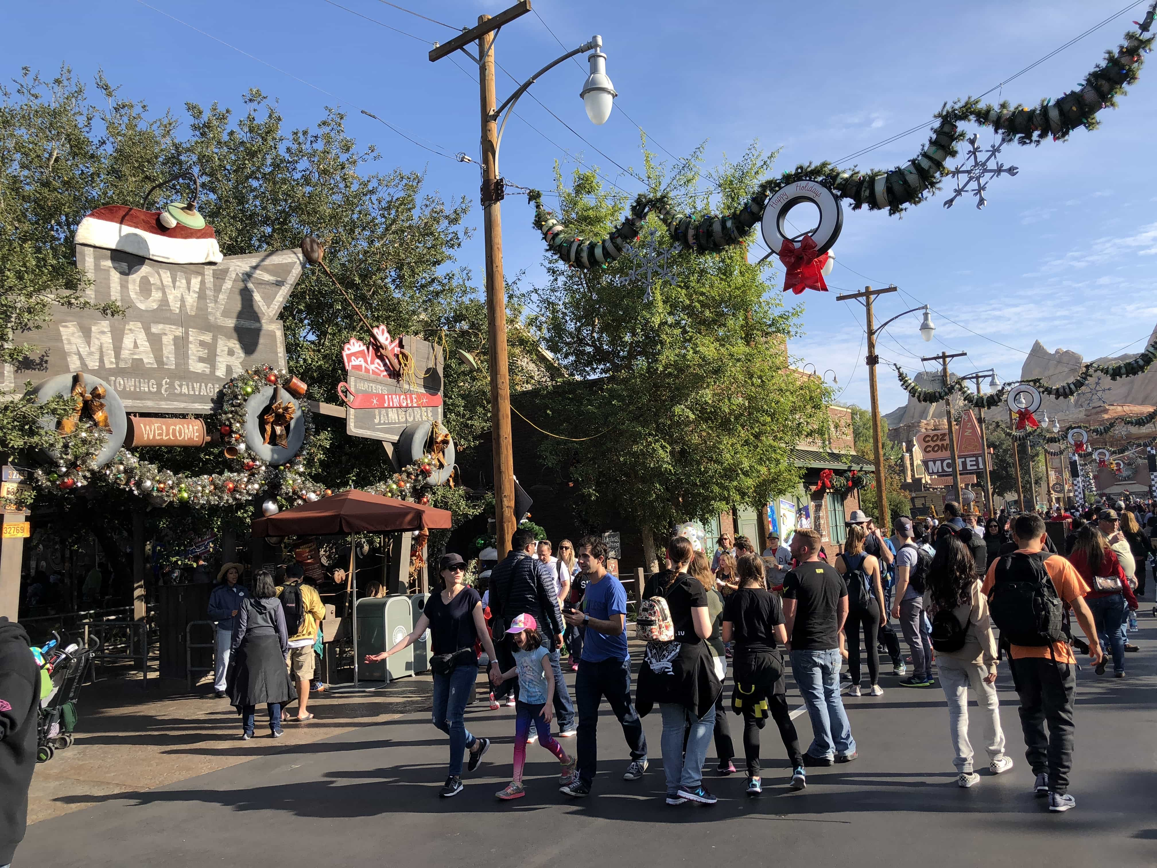 Crowds get larger and larger as the day progresses at Disney California Adventure on New Year's Eve