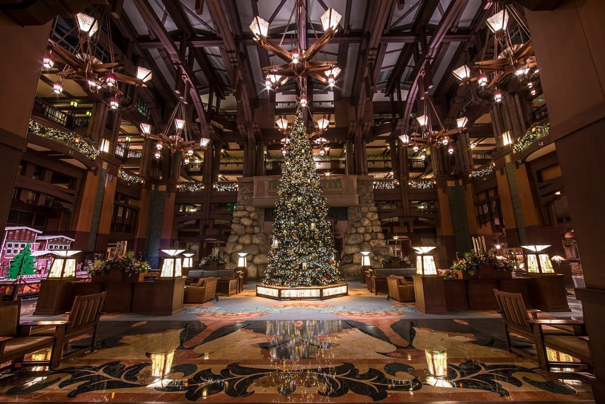 Disney's Grand Californian Hotel & Spa decked out for the holidays