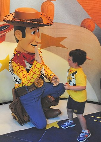 Toy Story character meet-and-greet at Disney's Hollywood Studios with Preschoolers