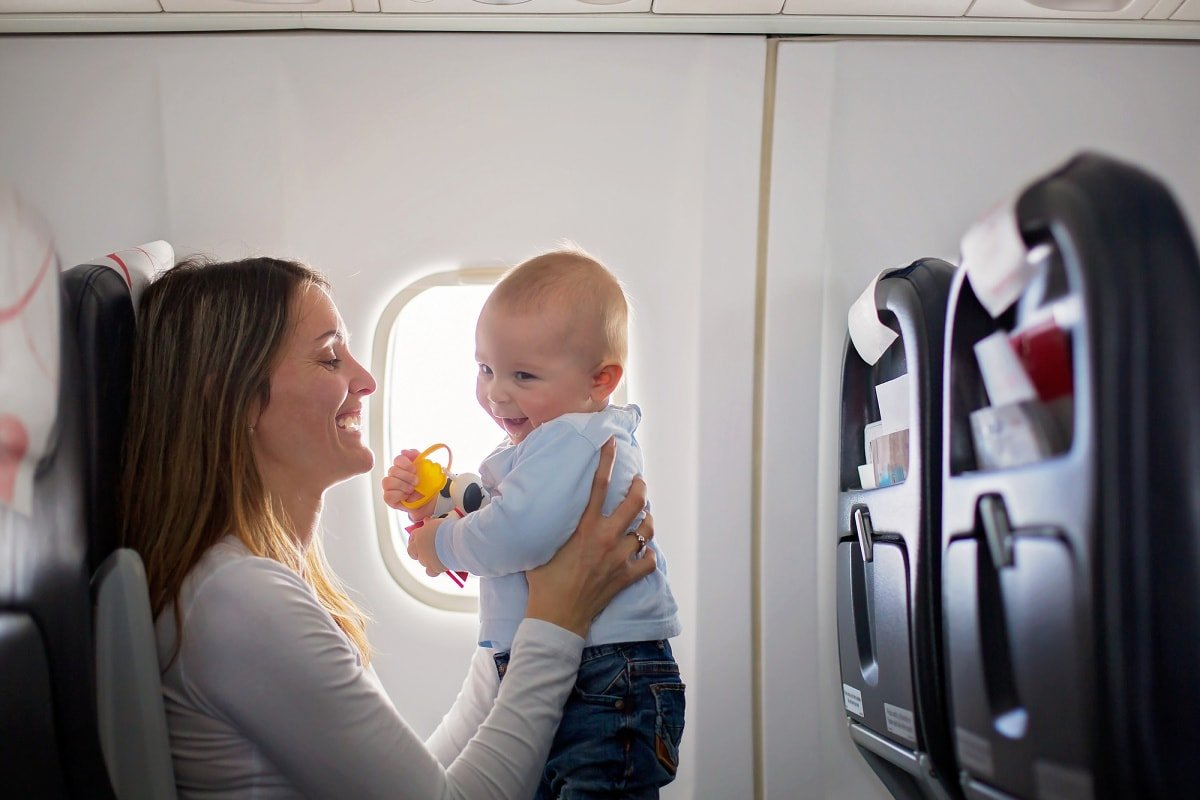 Plan to play, play, play with your baby on the plane