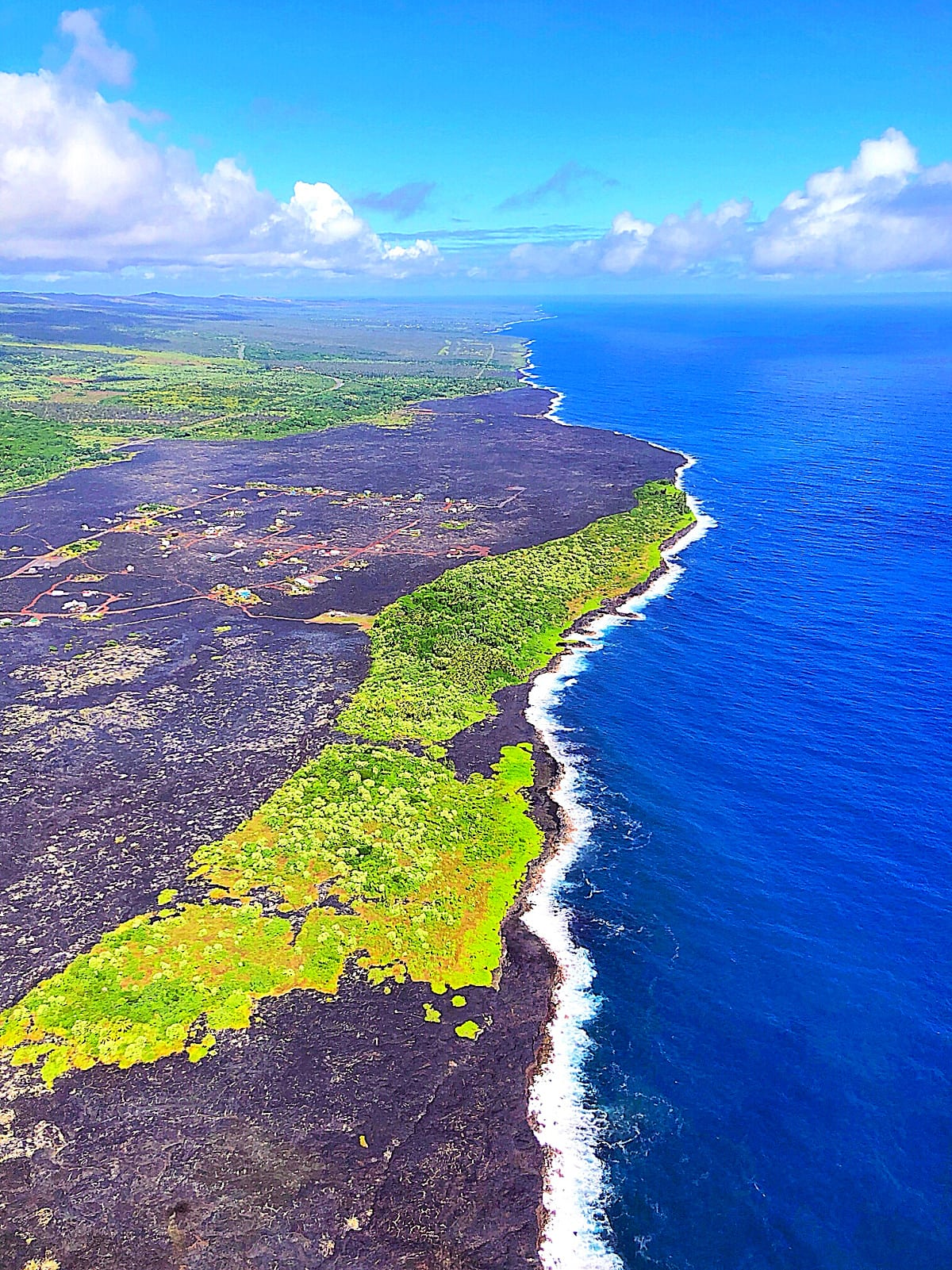 Hawaii Volcanoes National Park view from a helicopter