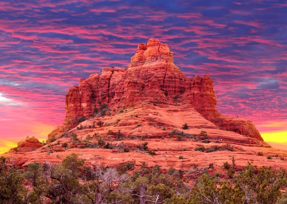 Sunset over Cathedral Rock in Sedona