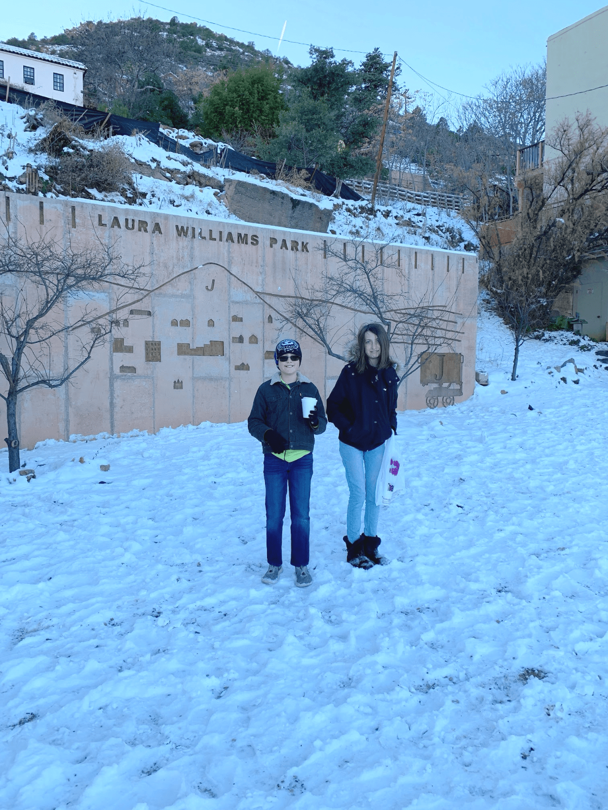 Laura Williams Park in Jerome, AZ with tween and teen