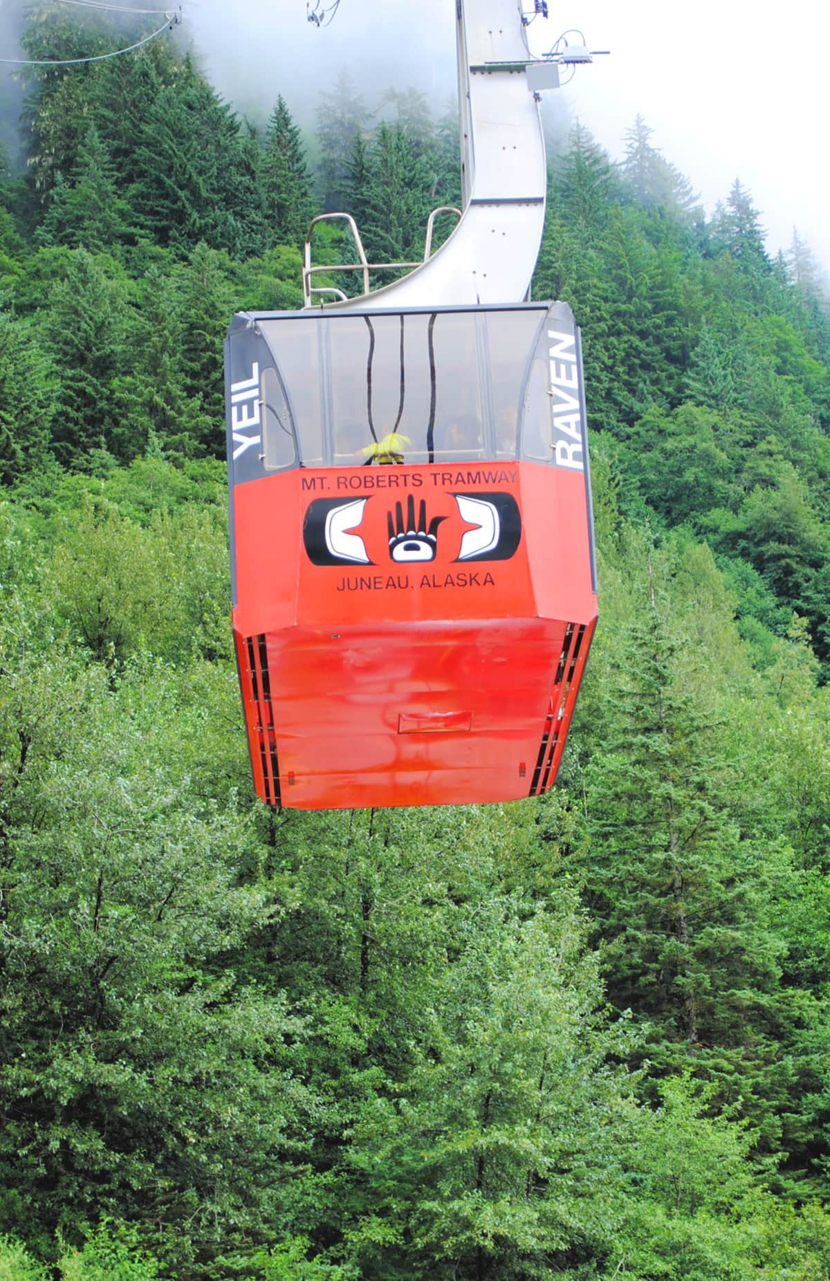 Mount Roberts Aerial Tramway in Juneau, Alaska with kids