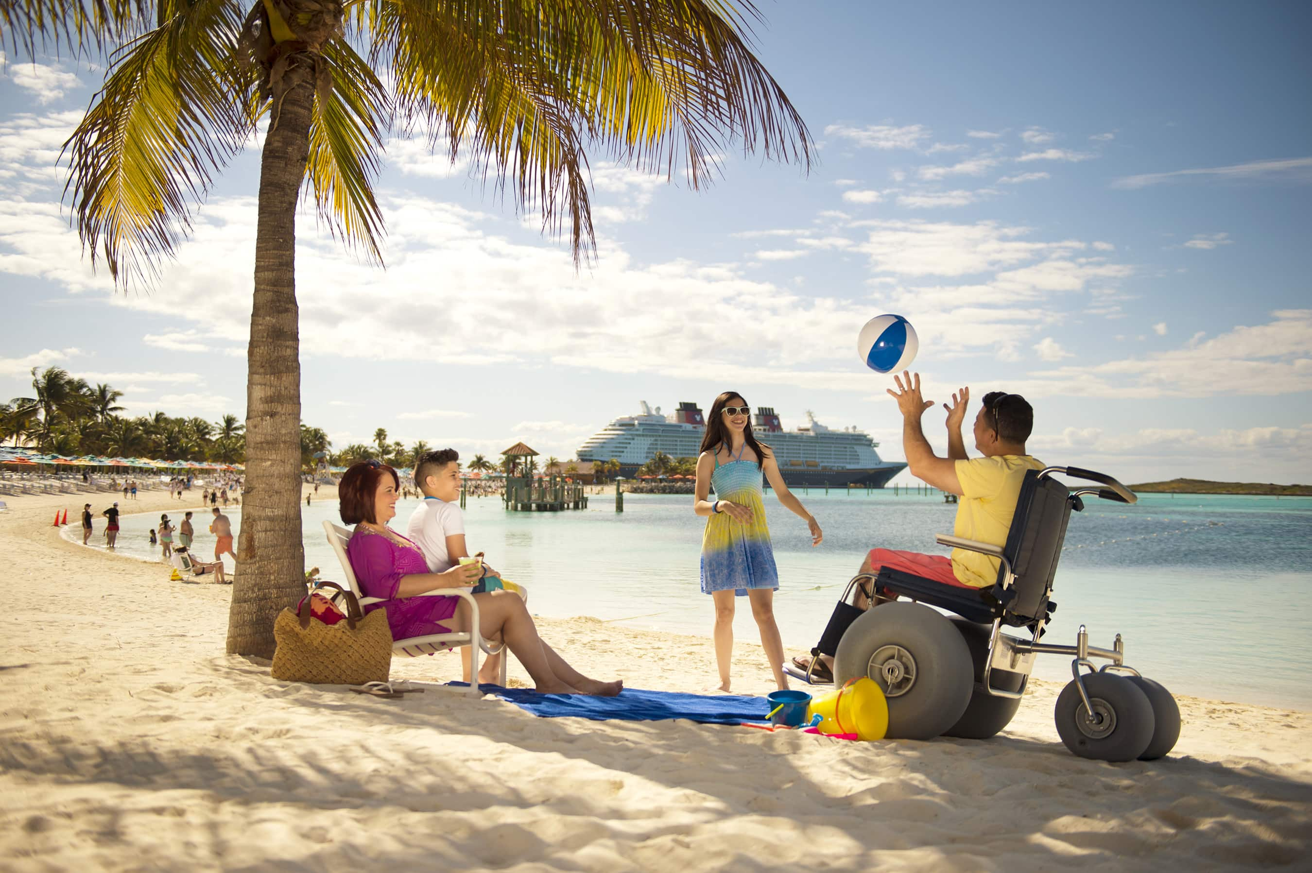 Get to the island early in the day if you want to be sure to nab a beach chair on Castaway Cay