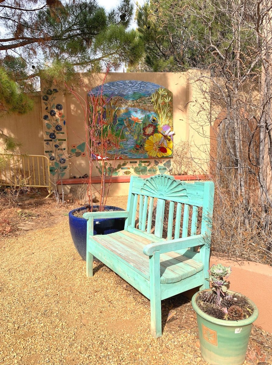 The ABQ BioPark Botanic Garden is a peaceful place to wander in Albuquerque with kids