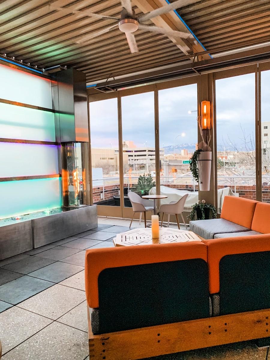 Ibiza rooftop bar at Hotel Andaluz
