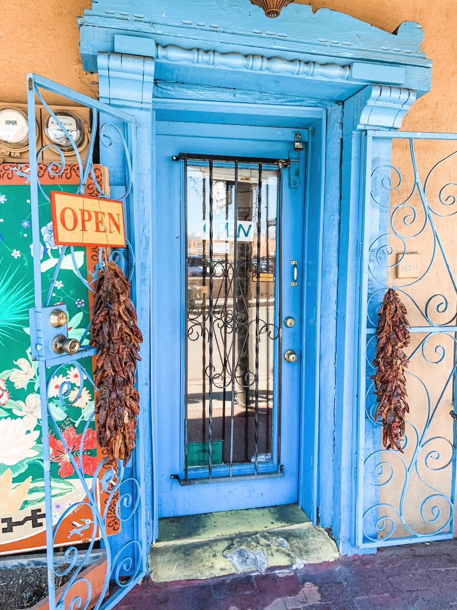 Old Town Albuquerque is made up of 10 square blocks of old adobe buildings