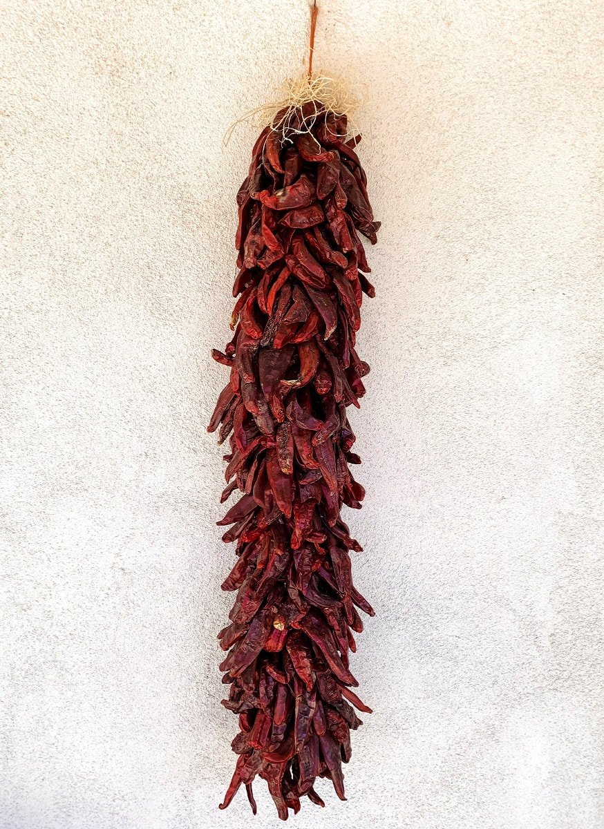 Look for ristras of chiles in New Mexico