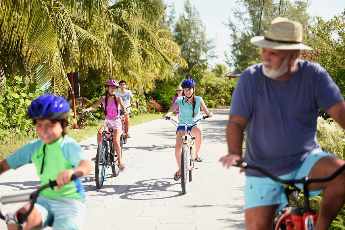 Bicycling is just one way to work off your vacation calories on Castaway Cay