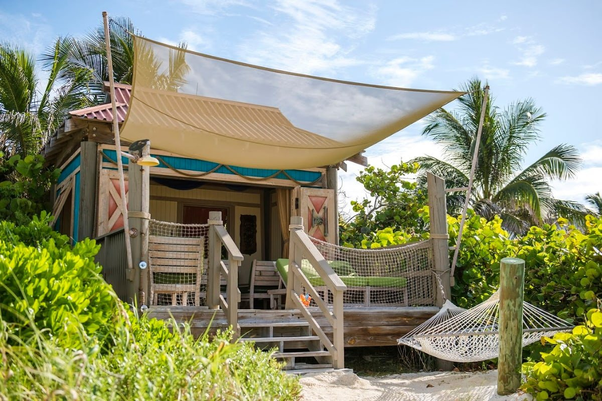 Rent a beach cabana as a special treat on Castaway Cay