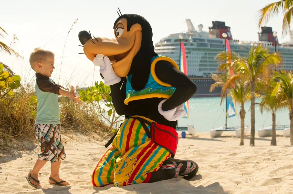 You just might get a hug from Goofy or other characters on Castaway Cay