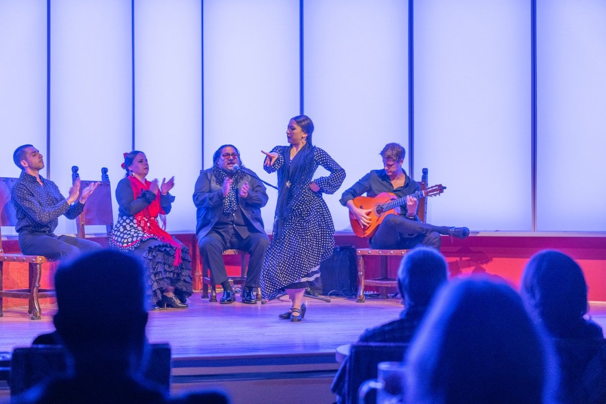 Tablao performance at the National Institute of Flamenco in Albuquerque, the capital of flamenco in the United States