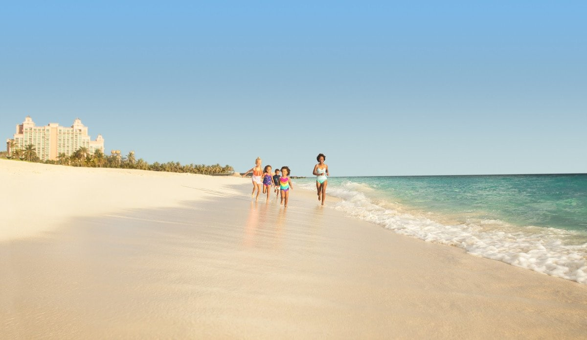 Of course, the beach is a big part of a family stay at Atlantis Bahamas