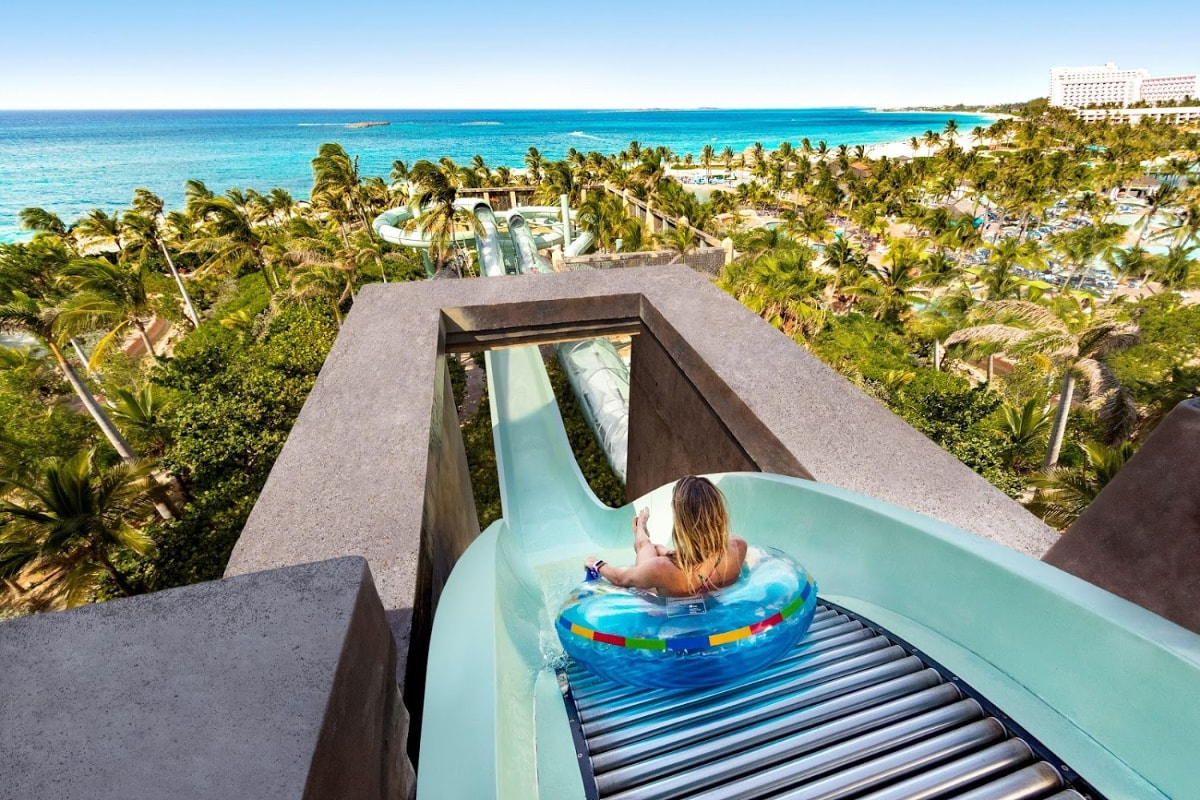 Waterslides abound at Atlantis Bahamas, from thrilling to mellow for kids of all ages