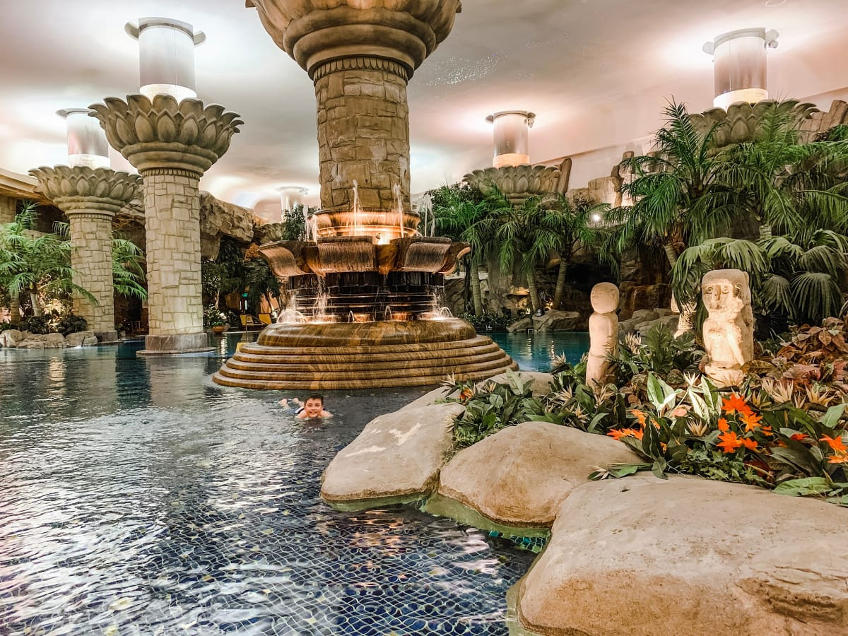 An indoor tropical paradise at Grand Hyatt Beijing
