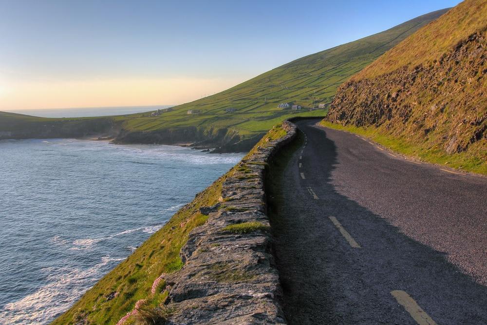Coastal road in Dingle Peninsula in Ireland