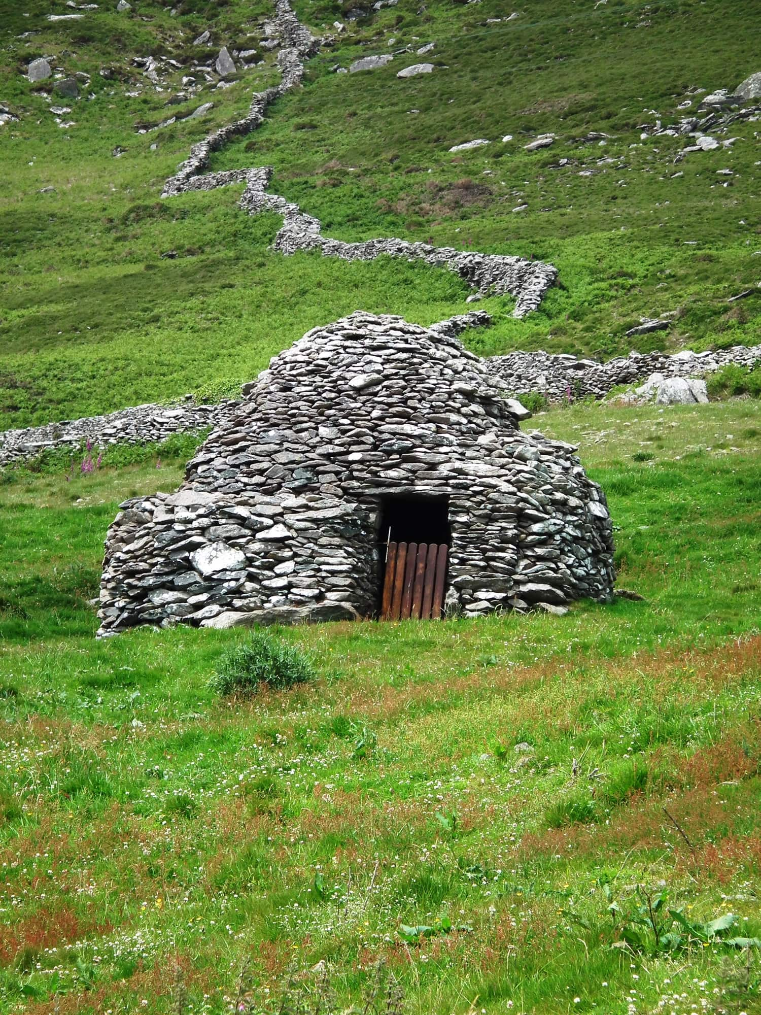 A beehive hut in Ireland