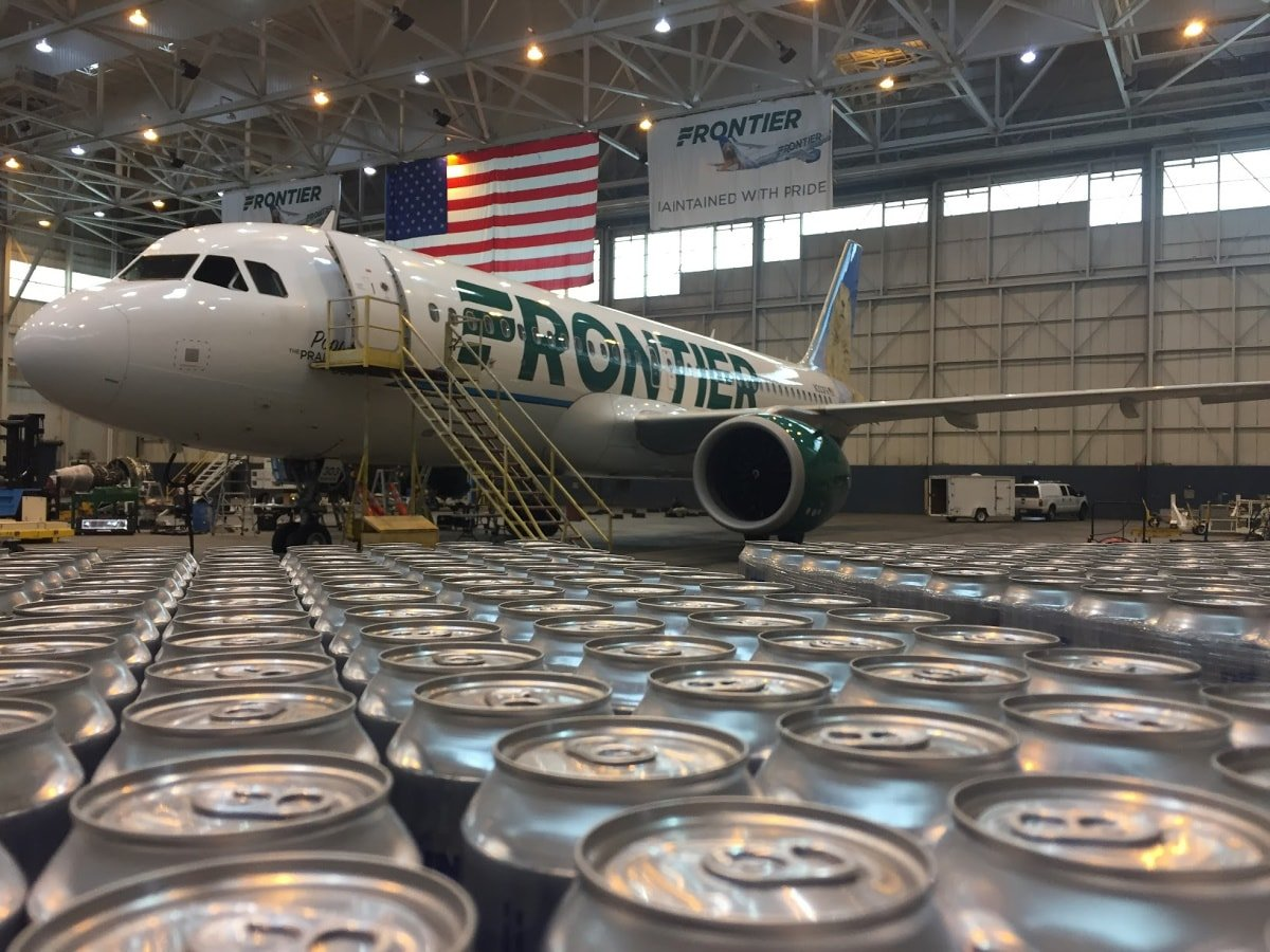 Frontier Airlines flew 91,200 cans of water to Puerto Rico to survivors of Hurricane Maria in 2017
