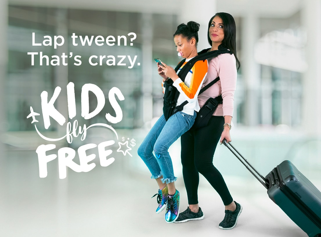 Kids ages 14 and younger can now fly free with Frontier Airlines!