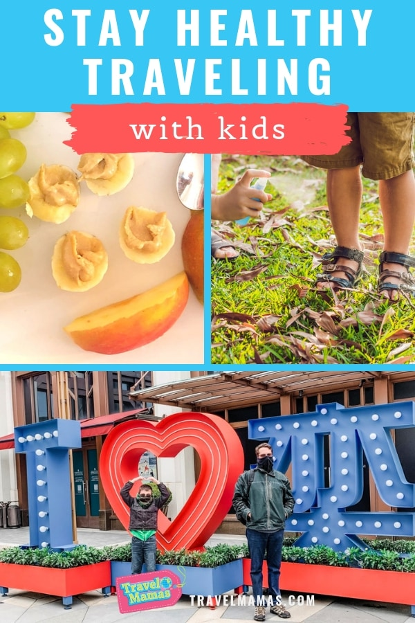 How to Stay Healthy While Traveling with Kids + Bioscarf Giveaway. Follow these 12 healthy travel tips from family travel experts! #familytravel #travelwithkids #healthylife