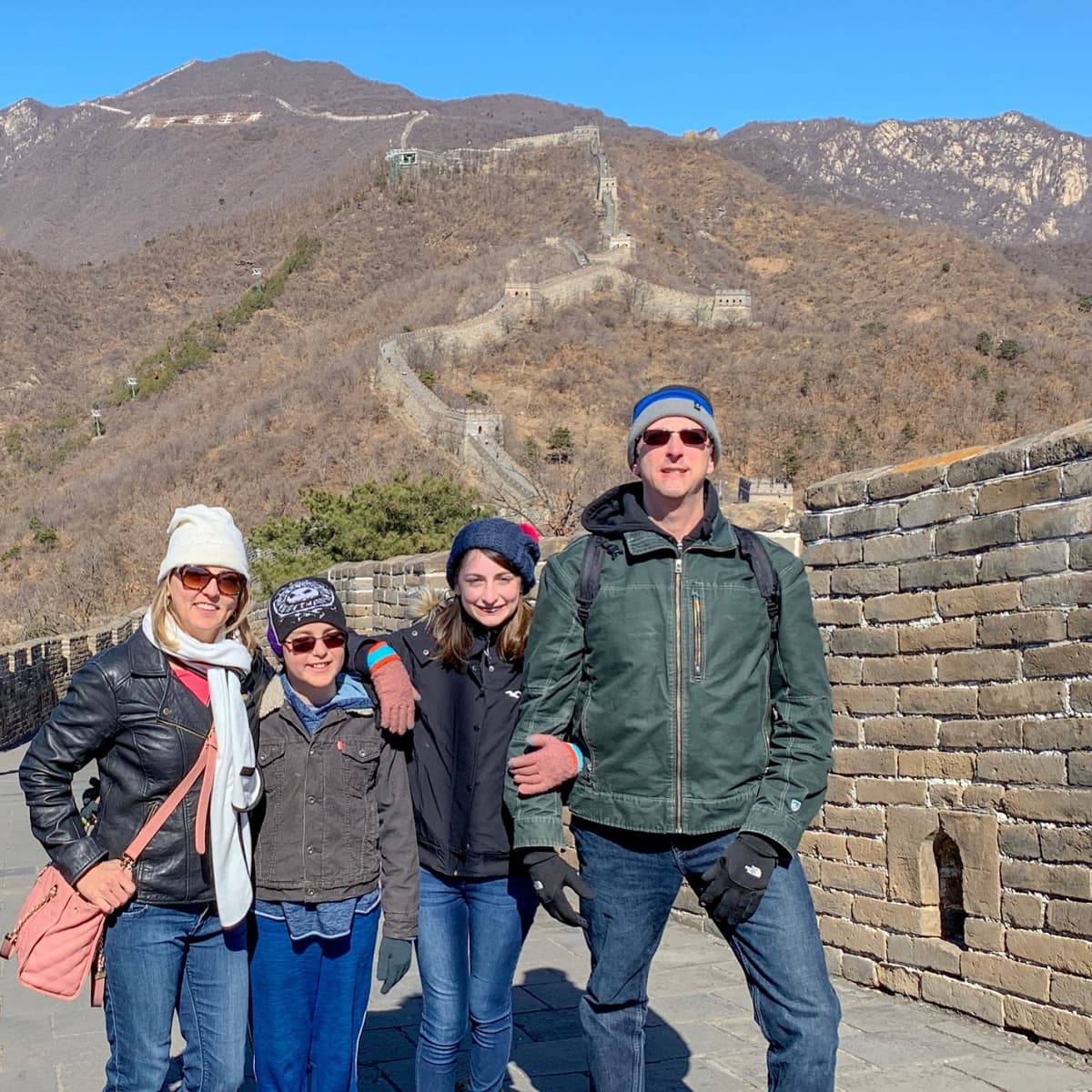 I'm sporting my Bioscarf to keep me warm atop the Great Wall of China in Beijing