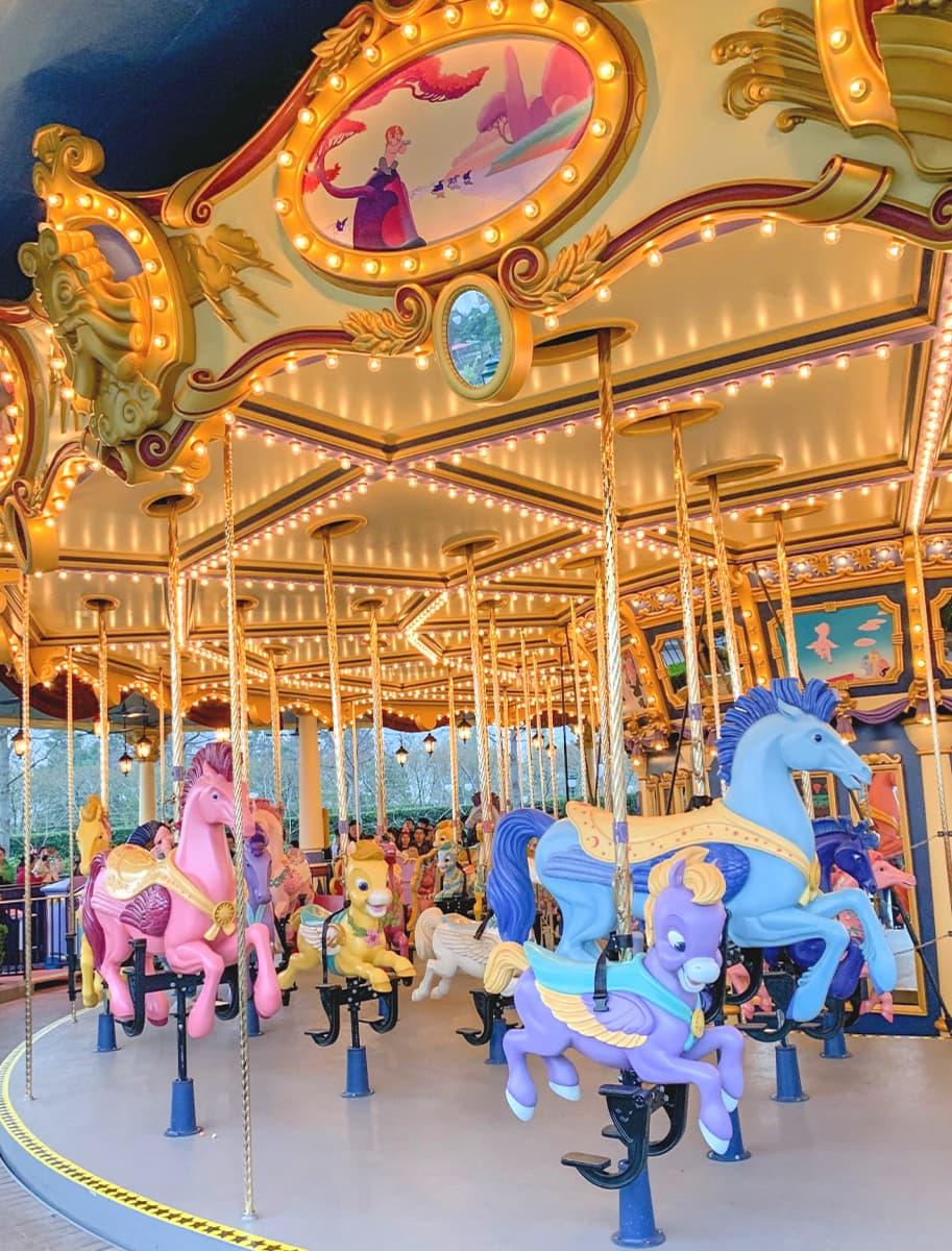 Fantasia Carousel at Disneyland Shanghai with children