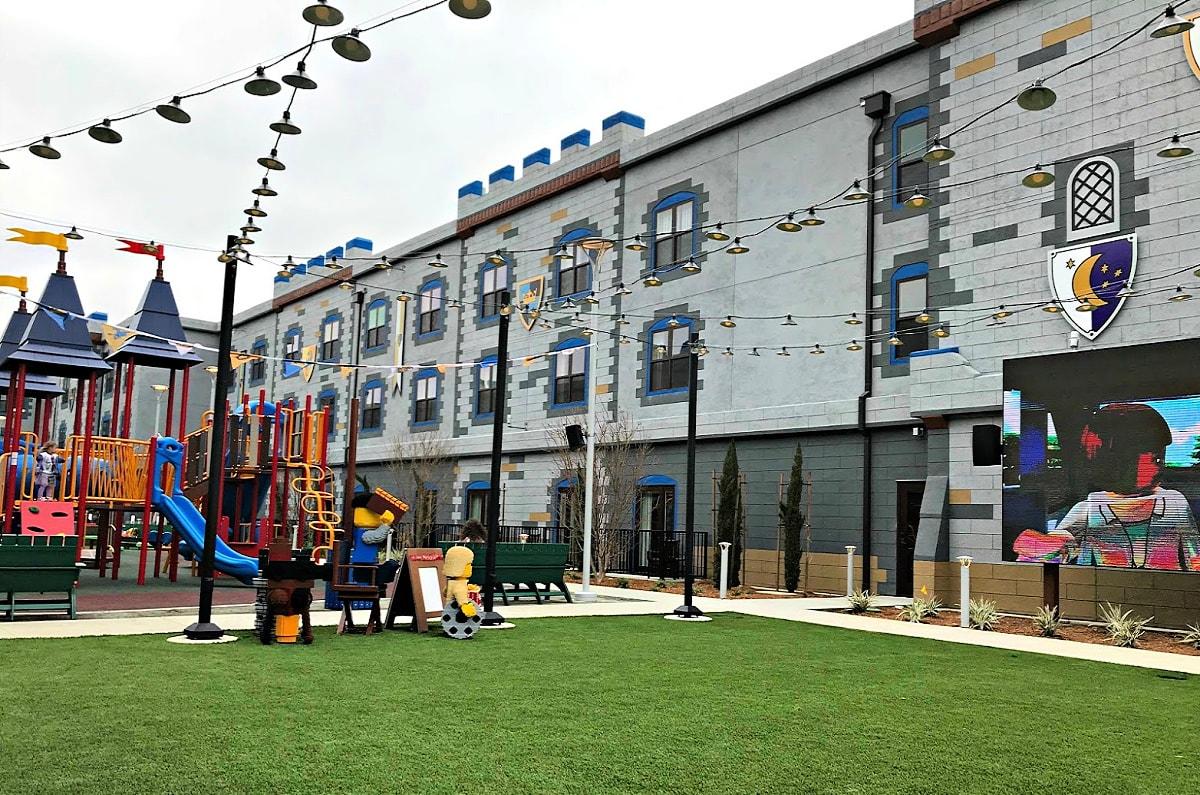 Entertainment Courtyard at the LEGOLAND Castle Hotel
