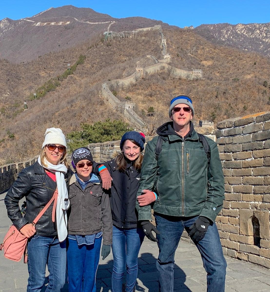 Travel Mamas Family on Great Wall of China