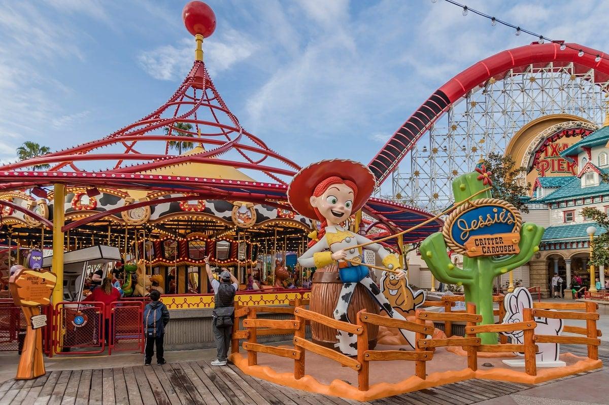 Jessie's Critter Carousel in Pixar Pier in Disney California Adventure
