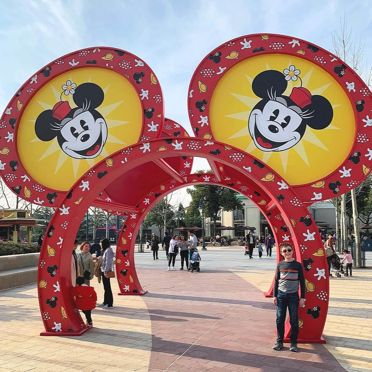 Mickey Mouse arches in Shanghai Disneyland's Disneytown