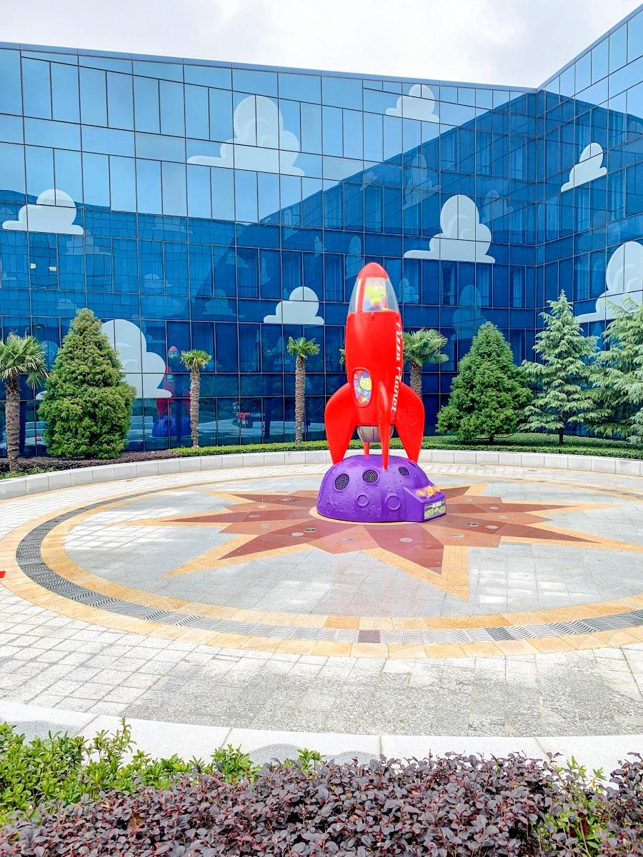 Splash pad at Shanghai Toy Story Hotel