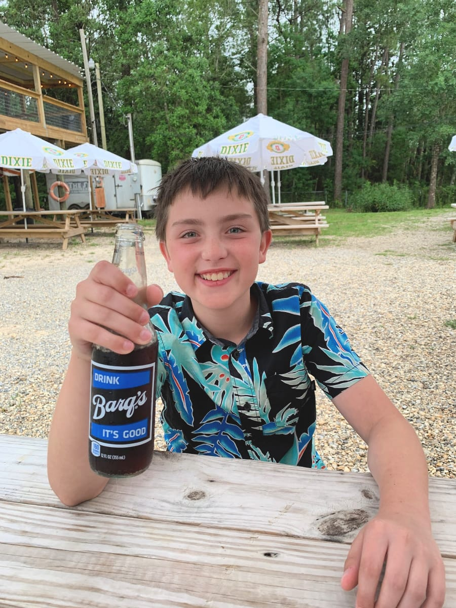 Drink a Barq's root beer when visiting Mississippi Gulf Coast with kids