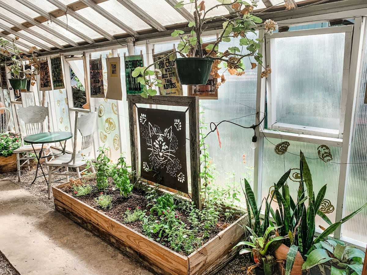 Inside Greenhouse on Porter Ave in Ocean Springs, Mississippi