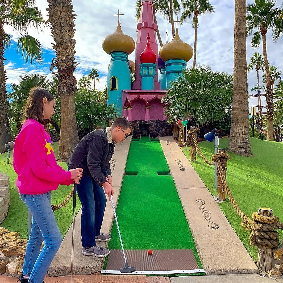 Miniature Golf at Castles N' Coasters in Phoenix