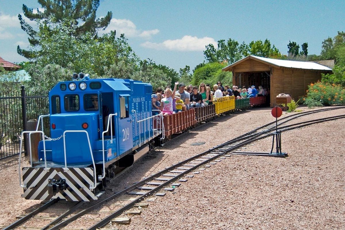 McCormick-Stillman Railroad Park train with kids