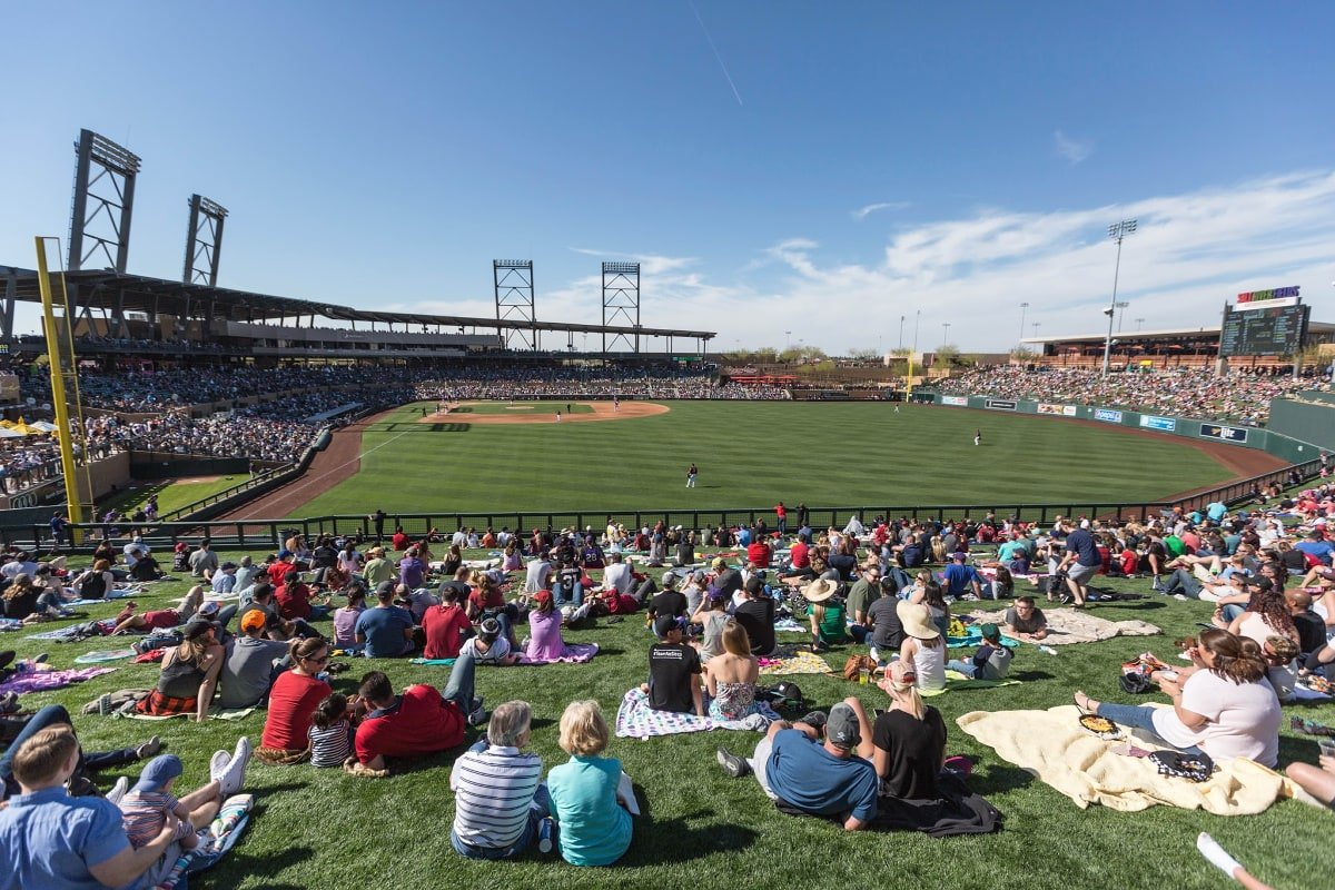Cactus League spring training outdoors at Salt River Fields in Scottsdale, Arizona