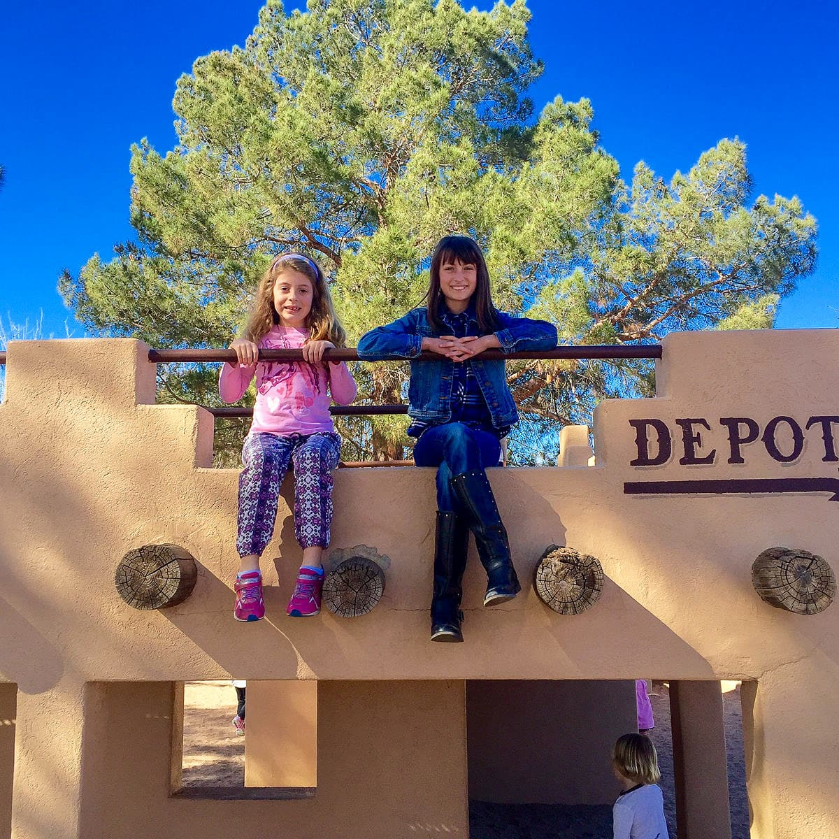 Old West-themed Playground at McCormick-Stillman Railroad Park in Scottsdale with Kids