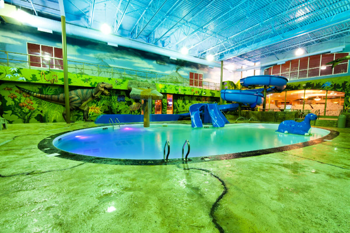 Dino Beach Water Park at Victoria Inn in Winnipeg