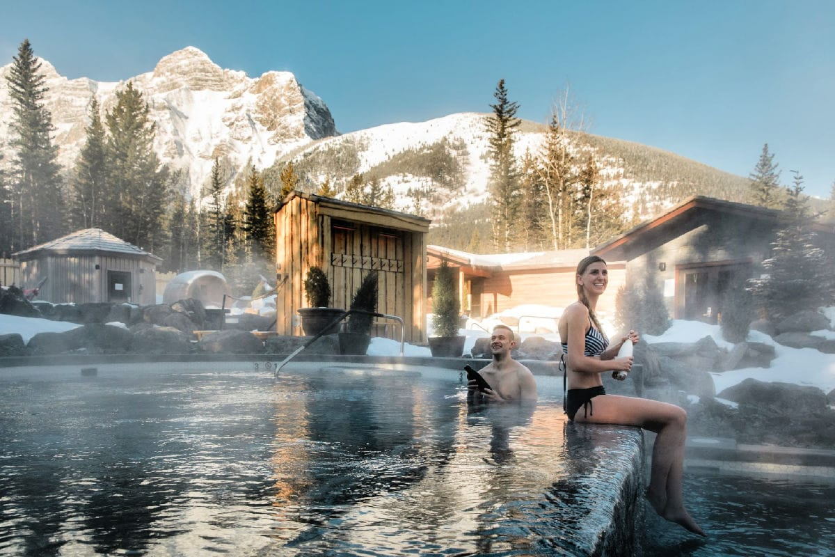 Kananaskis Nordic Spa pool in Canada