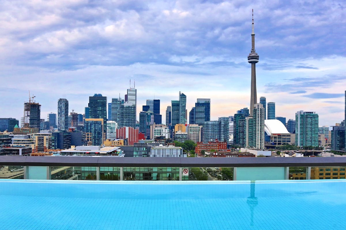 Thompson Toronto rooftop pool