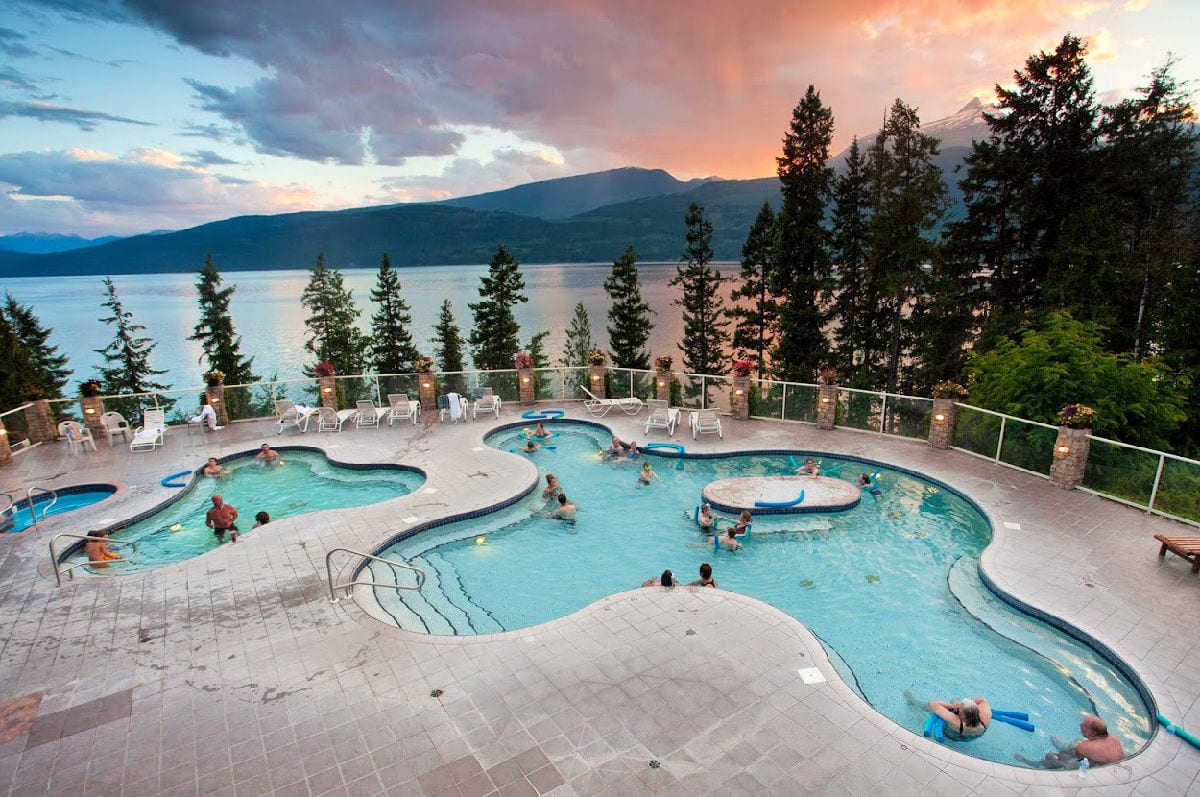 Halcyon Hot Springs in British Columbia, Canada