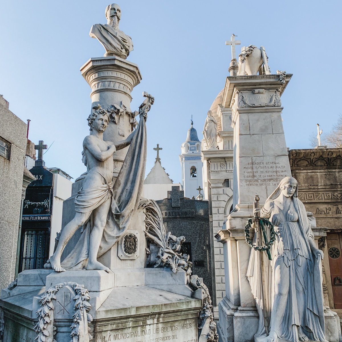 Statues at Recoleta Cemetery