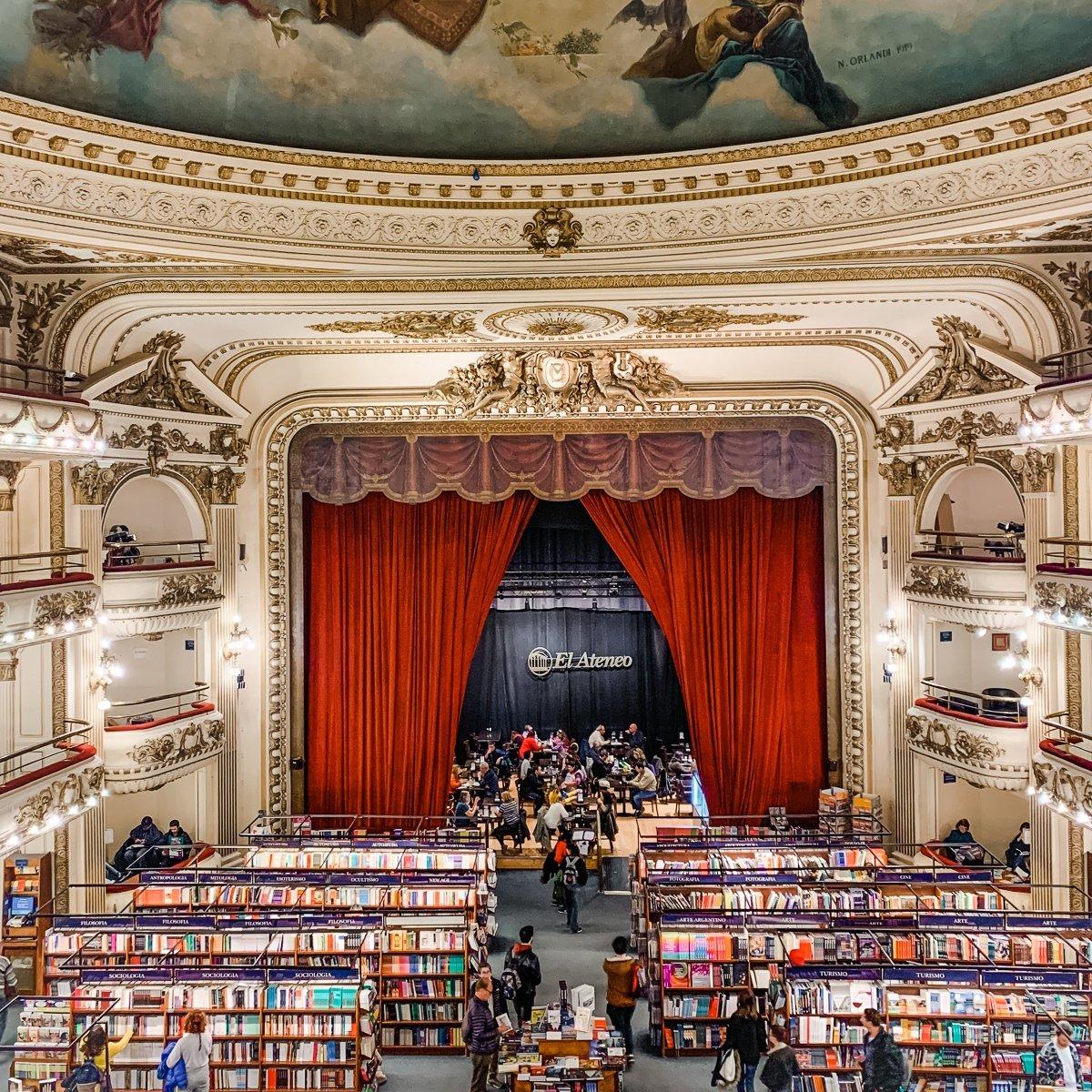 El Ataneo bookstore in Buenos Aires