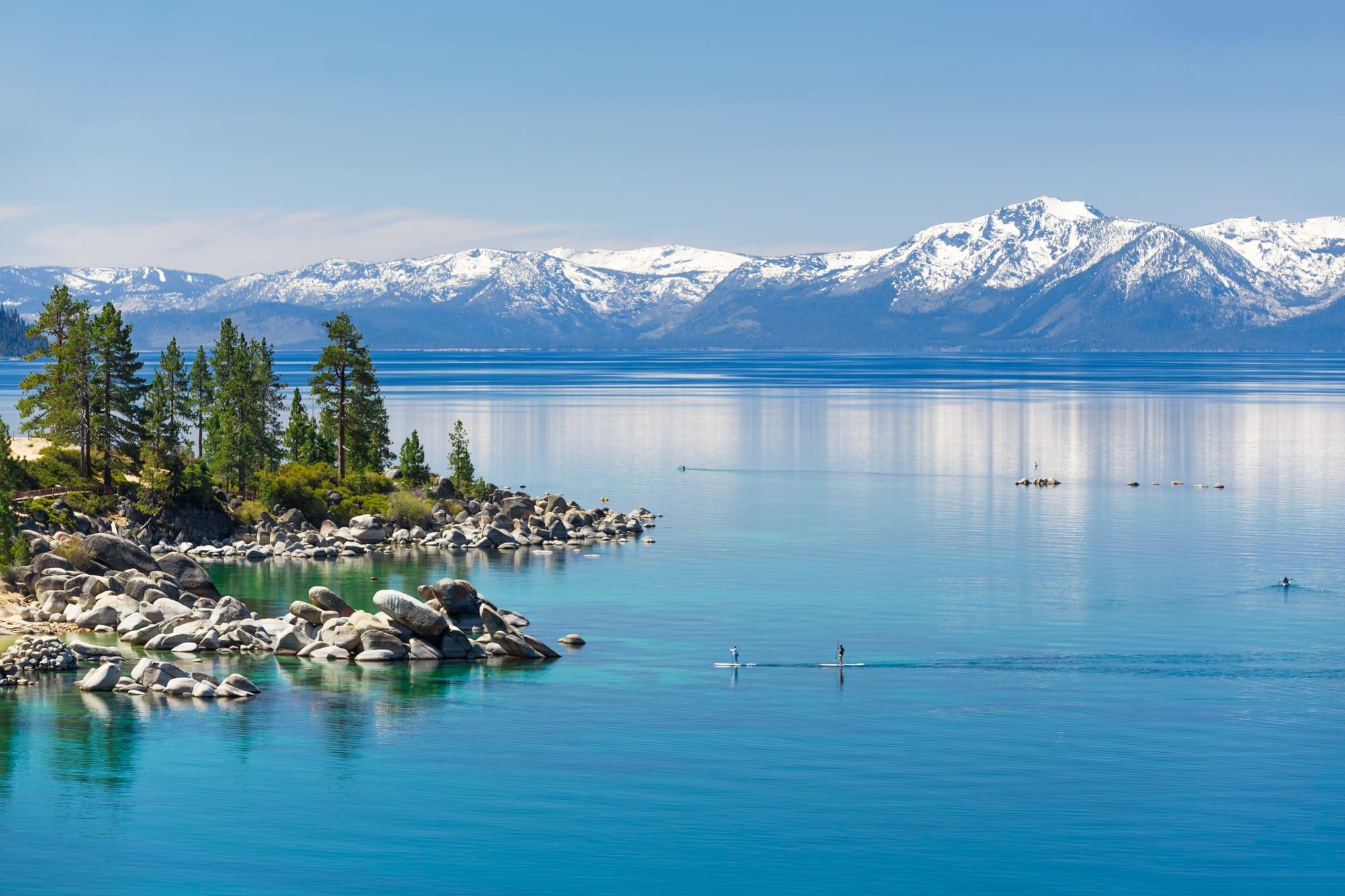 California's Lake Tahoe in winter