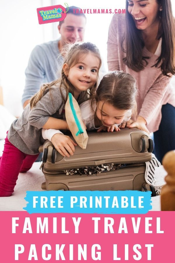 Free Printable Family Travel Packing List