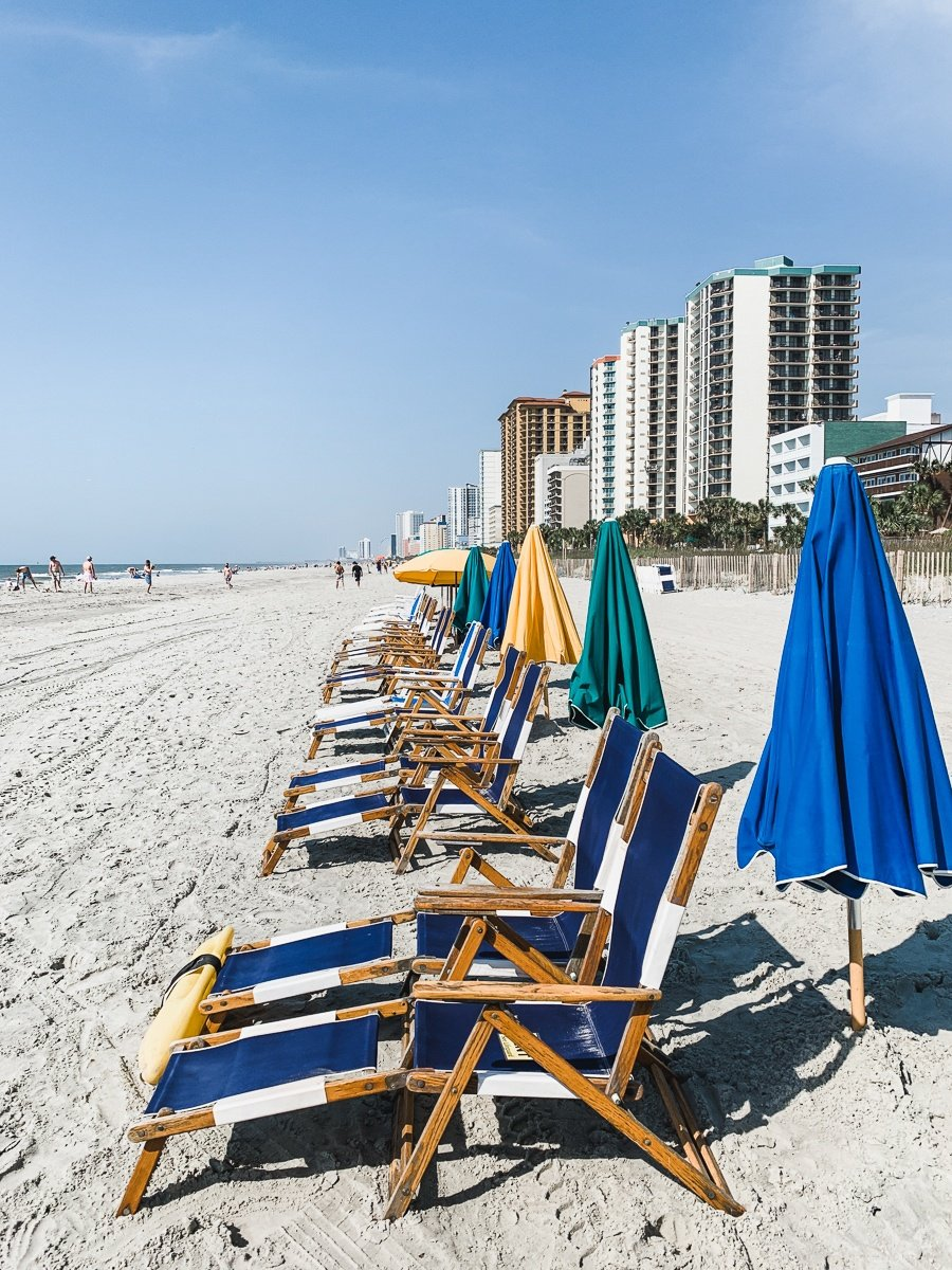 Myrtle Beach beach chairs at Caribbean Resort & Villas