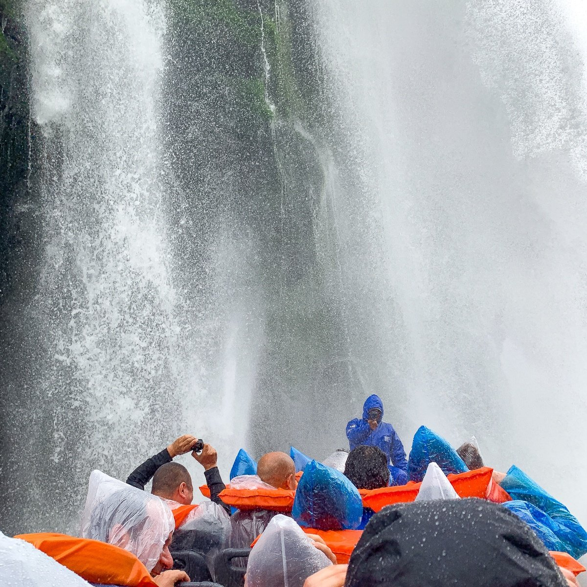 Boat tour of Iguazu Falls