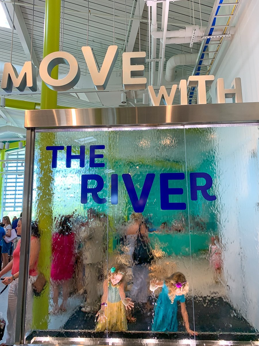 Water Wall at Move with the River at Louisiana Children's Museum